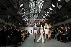 David Koma Presentation at London Fashion Week16 - David Koma is a 29 years old Georgian born, London based fashion designer who has become synonymous with the ultra body contouring silhouette. Creating sculptural statement dresses inspired by the feminine form, it is this design element that has projected the young designer onto the international stage. <br /> After studying Fine Art in St Petersburg and showing his first collection at the age of 15, Koma moved to London in 2003 to take up a place at the prestigious Central St Martins College of Art and Design.<br /> It was here that he channelled his love of fashion and honed his design skills to create his signature look. He completed his BA in Fashion Design and graduated with a distinction in MA Fashion in April 2009 under the mentorship of late Professor Louise Wilson, OBE.<br /> Straight after graduation David Koma launched his eponymous label and is a participant of London Fashion Week, presenting 2 womenswear collections a year.<br /> In December 2013 David was appointed as Creative Director of French house  Mugler.