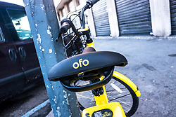 January 2, 2018 - Milan, Italy - A bicycle-sharing system, is a service in which bicycles are made available for shared use to individuals on a very short term basis for a price. Since 2008, when the service has been launched, in Milano the bikes have been rented more than 15 millions of times - Milan - 02 January 2018 (Credit Image: © Mairo Cinquetti/Pacific Press via ZUMA Wire)