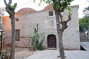 Turkey, Antalya, The old city The Yivli Mosque (Fluted Mosque) built in 1373 as is an example of the early example of the multi dome mosques - two domes are shown here
