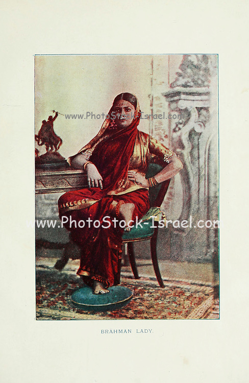 Brahman Lady Typical Pictures of Indian Natives Being reproduction from Specially prepared hand-colored photographs. By F. M. Coleman (Times of India) Seventh Edition Bombay 1902