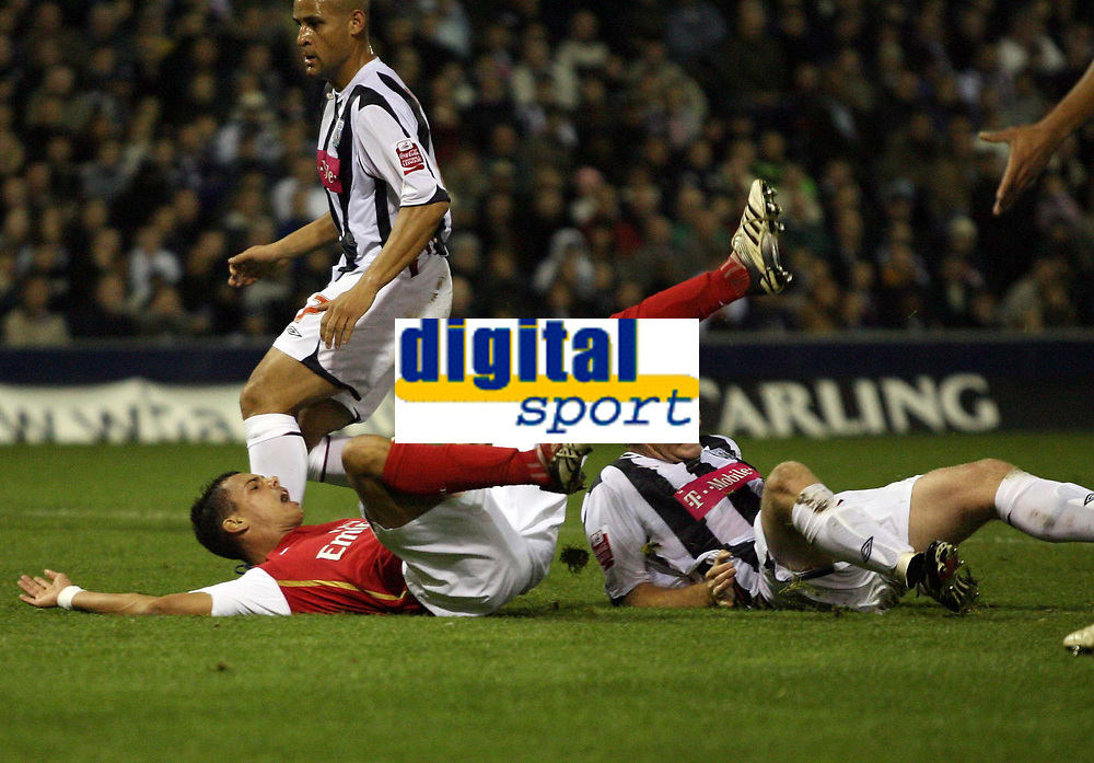 Photo: Rich Eaton.<br /> <br /> West Bromwich Albion v Arsenal. Carling Cup. 24/10/2006. Jeremie Aliadiere goes down in the box and scores from the the penalty spot