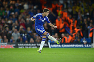 Oscar of Chelsea takes a penalty to score his teams second goal of the match to make it 2-0. UEFA Champions League group G match, Chelsea v Maccabi Tel Aviv at Stamford Bridge in London on Wednesday 16th September 2015.<br /> pic by John Patrick Fletcher, Andrew Orchard sports photography.