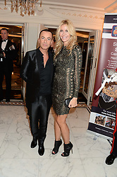 JULIEN MACDONALD and MELISSA ODABASH at Fashion For The Brave at The Dorchester, Park Lane, London on 8th November 2013.