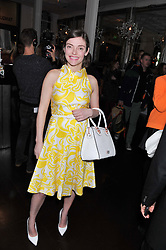 CAMILLA RUTHERFORD at the opening of the 'pop up' Tanqueray Gin Palace hosted by Idris Elba at 13 Floral Street, Covent Garden, London on 26th March 2013.