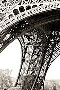 B&W fine art photograph of the Eiffel Tower