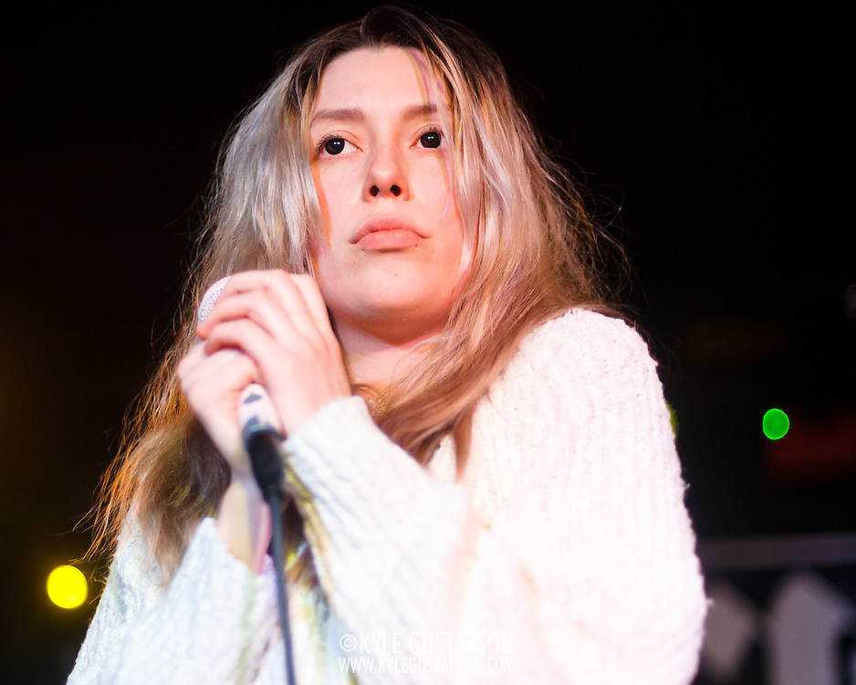 WASHINGTON, DC - January 23rd, 2012 - Andrea Estella of Twin Sister performs at the Rock N Roll Hotel in Washington, D.C. The band's debut album, In Heaven, earned high praise from Pitchfork and other media outlets. (Photo by Kyle Gustafson/For The Washington Post)