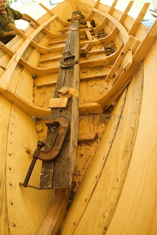 wood boat building