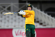Tom Moores of Nottinghamshire during the Vitality T20 Blast North Group match between Nottinghamshire County Cricket Club and Leicestershire County Cricket Club at Trent Bridge, Nottingham, United Kingdom on 4 September 2020.