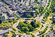 Nederland, Gelderland, Nijmegen, 29-05-2019; overzicht historisch binnenstad Nijmegen, omgeving van de rotonde van het Keizer Karelplein.<br /> Historic city center Nijmegen.<br /> luchtfoto (toeslag op standard tarieven);<br /> aerial photo (additional fee required);<br /> copyright foto/photo Siebe Swart