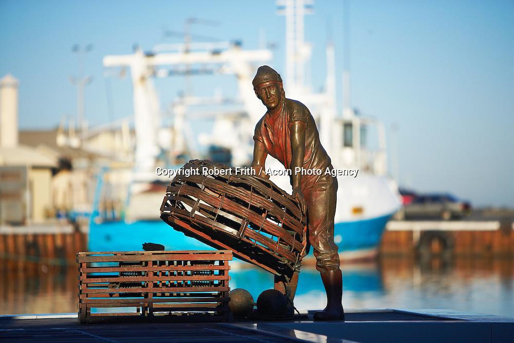 Greg Jame's sculpture at Fishermans' Harbour, Fremantle