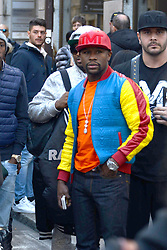 Floyd Mayweather Junior seen out and about in Milan, Italy.