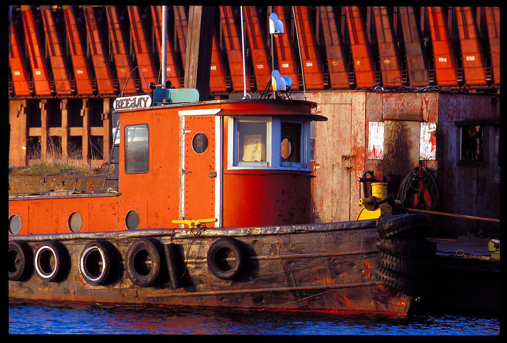 THE TUGBOAT BEEJAY DOCKED AT THE PRESQUE ISLE MARINA IN MARQUETTE, MICHIGAN.