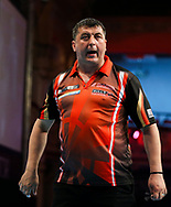 Mensur Suljovic during the BetVictor World Matchplay at Winter Gardens, Blackpool, United Kingdom on 22 July 2018. Picture by Chris Sargeant.