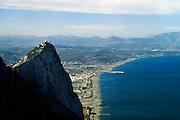 Gibraltar, 1-6-2000..Spanje, gezien vanaf het hoogste punt van Gibraltar. Britse kroonkolonie, enclave, dispuut..Foto: Flip Franssen