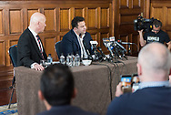 September 15, 2016: Max Markson with Eddie Hayson news conference at Hotel InterContinental in Sydney, AUS. Eddie denied any match fixing in the NRL.
