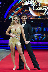 Gemma Atkinson and Aljaz Skorjanec posing during photocall before the opening night of Strictly Come Dancing Tour 2018 at Arena Birmingham in Birmingham, UK. Picture date: Thursday 18 January, 2018. Photo credit: Katja Ogrin/ EMPICS Entertainment.