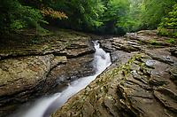 Natural Waterslides on Meadow Run. Ohiopyle State Park,  Pennsylvania