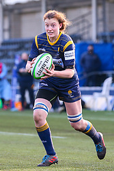 Philippa Rawbone, making her first start for Worcester Warriors Women  - Mandatory by-line: Nick Browning/JMP - 09/01/2021 - RUGBY - Sixways Stadium - Worcester, England - Worcester Warriors Women v DMP Durham Sharks - Allianz Premier 15s
