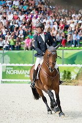 Patrice Delaveau, (FRA), Orient Express HDC - Show Jumping Final Four - Alltech FEI World Equestrian Games™ 2014 - Normandy, France.<br /> © Hippo Foto Team - Jon Stroud<br /> 07-09-14