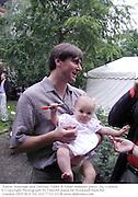 Simon Armitage and Emiline. Faber & Faber summer party. Sq. London. <br />© Copyright Photograph by Dafydd Jones 66 Stockwell Park Rd. London SW9 0DA Tel 020 7733 0108 www.dafjones.com