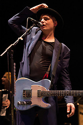 © Licensed to London News Pictures. 20/05/2016. Peter Doherty performs at the Hackney Empire on the last date of his UK tour. Photo credit: Ray Tang/LNP