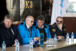 Joze Ajdisek and Marjan Jakse at press conference of OK Planica before FIS World Cup in Planica 2018, on March 14, 2018 in Slovenian Railway museum, Ljubljana, Slovenia. Photo by Urban Urbanc / Sportida
