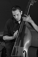 Jake Erwin, bassist and vocal with the Hot Club of CowtownSisters Folk Festival. 2010