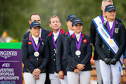 Team Great Britain, Townend Oliver, Cook Kristina, French Piggy, Funnell Pippa, Waygood Richard, chef d'equipe <br /> European Championship Eventing<br /> Luhmuhlen 2019<br /> © Hippo Foto - Stefan Lafrentz<br /> 01/09/2019