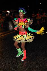 Young black woman in fancy costume at Carnival; Havana; Cuba,