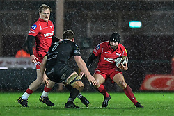 Scarlets' Leigh Halfpenny in action during todays match - Mandatory by-line: Craig Thomas/Replay images - 26/12/2017 - RUGBY - Parc y Scarlets - Llanelli, Wales - Scarlets v Ospreys - Guinness Pro 14