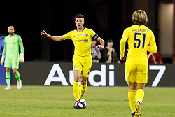 May 15, 2019 - Foxborough, MA, U.S. - FOXBOROUGH, MA - MAY 15: Chelsea FC defender Cesar Azpilicueta (28) directs his teammates during the Final Whistle on Hate match between the New England Revolution and Chelsea Football Club on May 15, 2019, at Gillette Stadium in Foxborough, Massachusetts. (Photo by Fred Kfoury III/Icon Sportswire) (Credit Image: © Fred Kfoury Iii/Icon SMI via ZUMA Press)