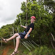 Zip lining on the island of Kauai.