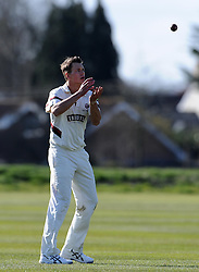 Somerset's Adam Dibble - Photo mandatory by-line: Harry Trump/JMP - Mobile: 07966 386802 - 24/03/15 - SPORT - CRICKET - Pre Season Fixture - Day 2 - Somerset v Glamorgan - Taunton Vale Cricket Club, Somerset, England.