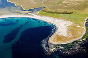 Aerial view of a beach on the Falkland Islands