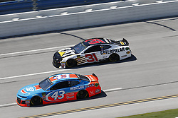 April 29, 2018 - Talladega, Alabama, United States of America - Darrell Wallace, Jr (43)  battles side by side down the front stretch for position during the GEICO 500 at Talladega Superspeedway in Talladega, Alabama. (Credit Image: © Justin R. Noe Asp Inc/ASP via ZUMA Wire)