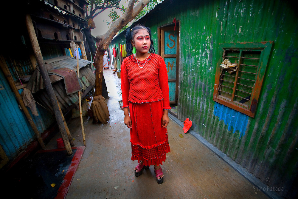 Sex worker Lovely, 15, is seen at brothel in Tangail, Bangladesh.