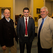08.12.2016                   <br /> Pictured at the launch of the Shannon Airport Christmas Racing Festival at Hunt Museum were, Colm Kinsella, Limerick Leader, Liam Aherne, Live 95 and Leo O'Connor, Clare Champion. Picture: Alan Place