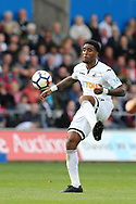Leroy Fer of Swansea city in action. Premier league match, Swansea city v Watford at the Liberty Stadium in Swansea, South Wales on Saturday 23rd September 2017.<br /> pic by  Andrew Orchard, Andrew Orchard sports photography.