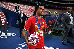 LISBON, PORTUGAL - Sunday, August 23, 2020: FC Bayern Munich's Philippe Coutinho Correia celebrates after the UEFA Champions League Final between FC Bayern Munich and Paris Saint-Germain at the Estadio do Sport Lisboa e Benfica. FC Bayern Munich won 1-0. (Credit: ©UEFA)