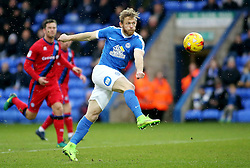 Craig Mackail-Smith of Peterborough United shoots at goal - Mandatory by-line: Joe Dent/JMP - 25/02/2017 - FOOTBALL - ABAX Stadium - Peterborough, England - Peterborough United v Rochdale - Sky Bet League One