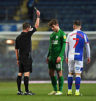 Preston North End's Ryan Ledson is yellow carded<br /> <br /> Photographer Dave Howarth/CameraSport<br /> <br /> The EFL Sky Bet Championship - Blackburn Rovers v Preston North End - Friday 12th February 2021 - Ewood Park - Blackburn<br /> <br /> World Copyright © 2021 CameraSport. All rights reserved. 43 Linden Ave. Countesthorpe. Leicester. England. LE8 5PG - Tel: +44 (0) 116 277 4147 - admin@camerasport.com - www.camerasport.com