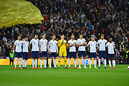 England players giving a minutes applause for the late Gordon Banks during the UEFA European 2020 Qualifier match between England and Czech Republic at Wembley Stadium, London, England on 22 March 2019