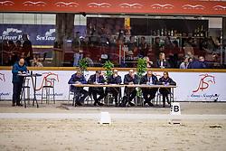 Keuringscommisie, De Smet Stefaan, Bode Herman, Van Den Broeck H, Heylen T, Van Tricht T<br /> BWP hengstenkeuring 2019<br /> 3de phase - Sentower Park - Opglabeek 2019<br /> © Hippo Foto - Dirk Caremans