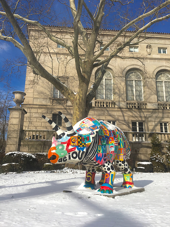 Oakland, Pittsburgh, Carnegie Mellon, fantasy painted rhino