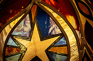 Stained glass depicting a star on Saturday, Jan. 16, 2021, at Zion Lutheran Church, Fort Wayne, Indiana. LCMS Communications/Erik M. Lunsford