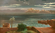 Storm on the Lake of Gennesareth [Sea of Galilee or Lake Tiberias] Coloured Illustration of from the book Palestine illustrated by Sir Richard Temple, 1st Baronet, GCSI, CIE, PC, FRS (8 March 1826 – 15 March 1902) was an administrator in British India and a British politician. Published in London by W.H. Allen & Co. in 1888