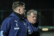 AFC Wimbledon manager Glyn Hodges walking off pitch during the EFL Sky Bet League 1 match between AFC Wimbledon and Burton Albion at the Cherry Red Records Stadium, Kingston, England on 28 January 2020.