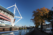 A view of the Millennium Stadium in Cardiff