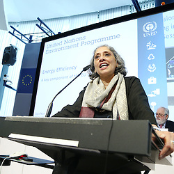 20150226 - Brussels - Belgium - 26 February 2015 -  Heating and cooling in the European energy  transition conference - Opening Ceremony , Facing the challenges, moving forward with the EU's energy transition. - Ligia Noronha - Director of Technology , Industry and Economics, United Nations Environment Programme ( UNEP )    © EC/CE - Patrick Mascart