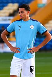 Sam Edozie of Manchester City - Mandatory by-line: Ryan Crockett/JMP - 08/09/2020 - FOOTBALL - One Call Stadium - Mansfield, England - Mansfield Town v Manchester City U21 - Leasing.com Trophy